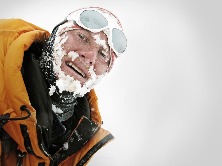 """After surviving a grade 4 avalanche, adventurer Cory Richards' first thought was to capture the moment in a photo. His """"selfie"""" wound up on the cover of National Geographic.  PHOTOGRAPH BY CORY RICHARDS"""