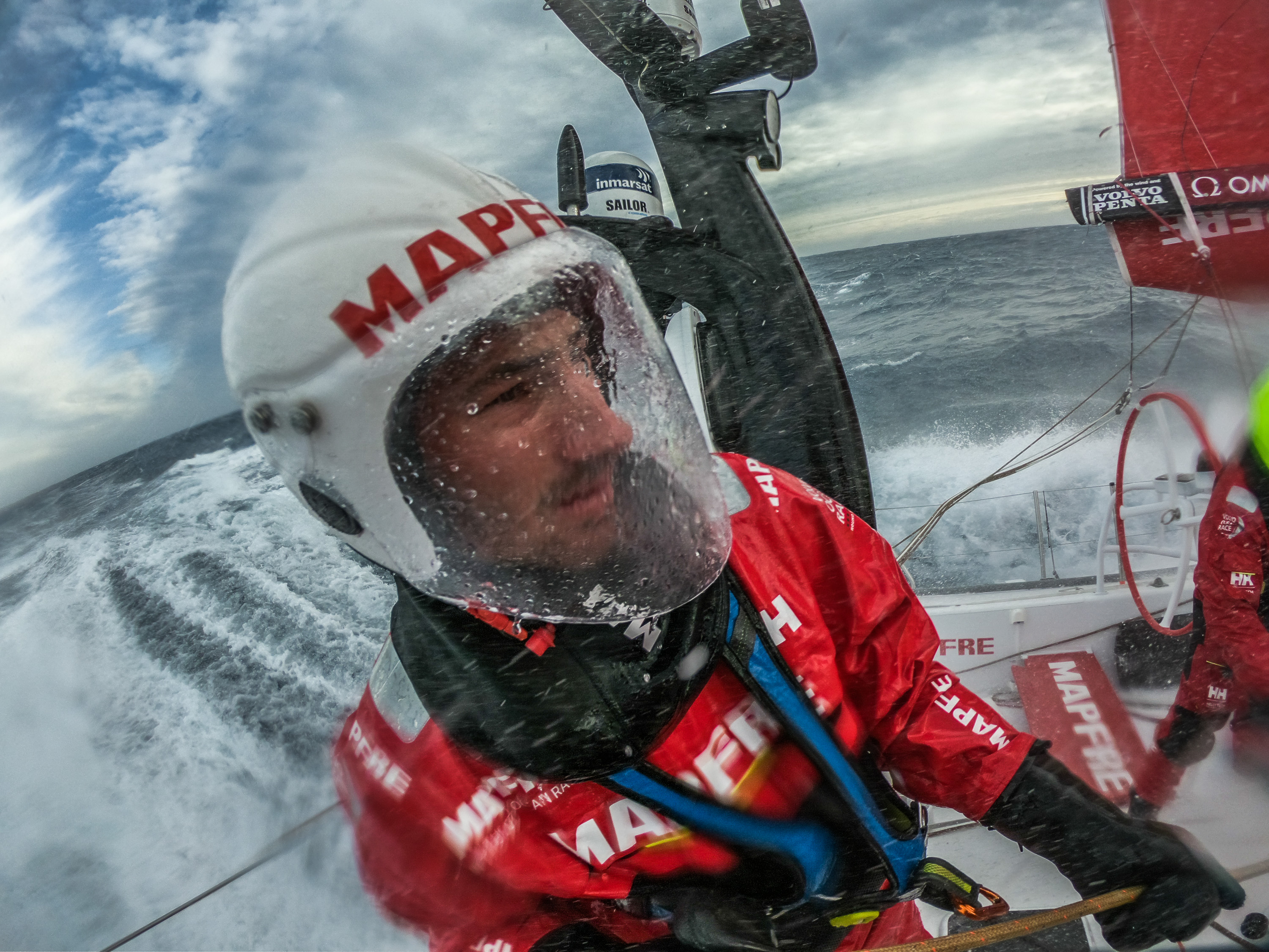 Leg 3, Cape Town to Melbourne, day 06, Southern Ocean , Louis Sinclair on board MAPFRE. Photo by Jen Edney/Volvo Ocean Race. 15 December, 2017.