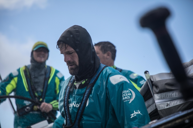 Leg 6 to Auckland, day 08 on board AkzoNobel, Simeon Tienpont in action. 14 February, 2018.
