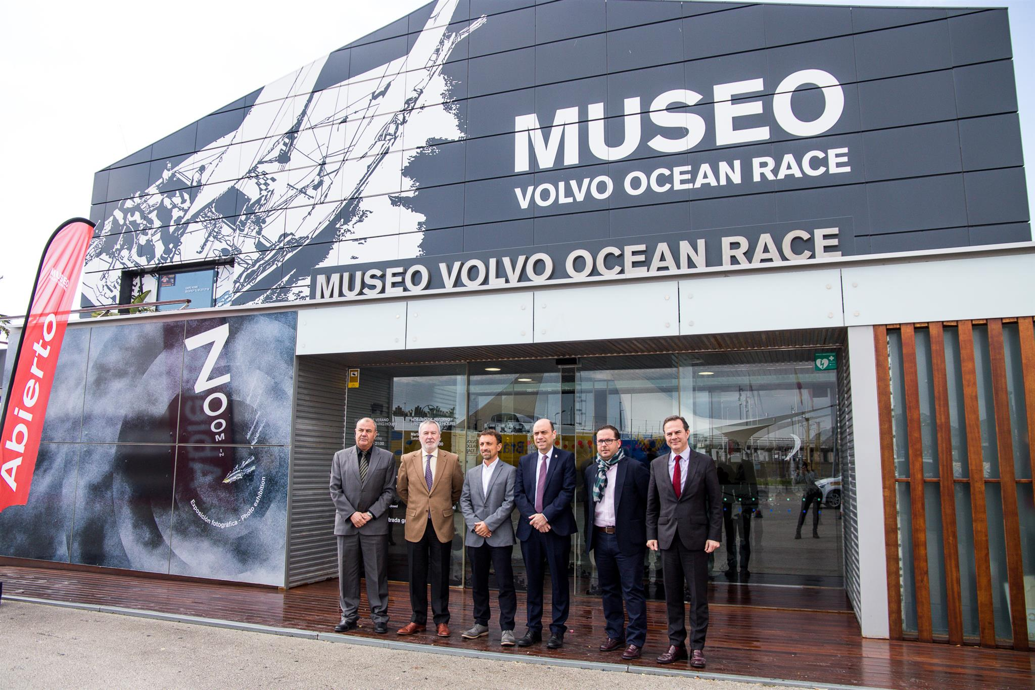 2017-18 Economic Impact press conference at the Volvo Ocean Race Museum. 08 March, 2018. Antonio Rodes, Generalitat Valenciana, Juan Antonio Gisbert, President of the Port Authority of Alicante, Antonio Bolaños, Managing Director Volvo Ocean Race, Gabriel Echávarri, Major of Alicante, Agustín Almodóbar, PP Senator for Alicante and Tourism Spokesperson, Carlos Castillo, Diputación de Alicante. - Imagem:Marina García/Volvo Ocean Race