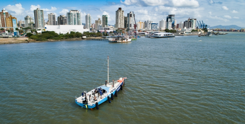 Leg 7 from Auckland to Itajai, Vestas 11th Hour arrives in Itajai. 16 April, 2018.