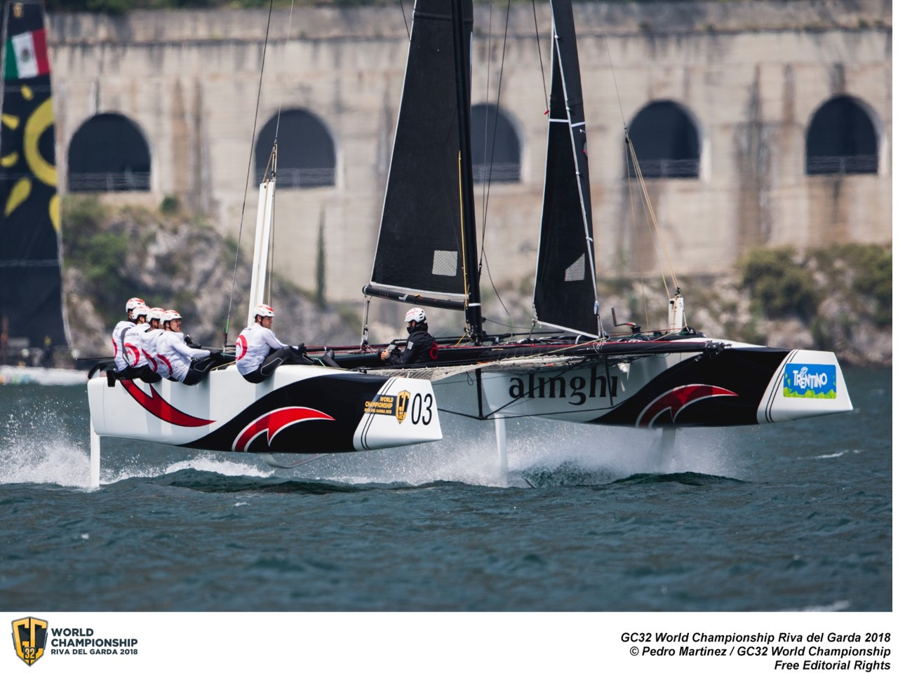Ernesto Bertarelli and Alinghi won the Owner Driver class at the GC32 World Championship. Photo ©: Pedro Martinez / GC32 World Championship
