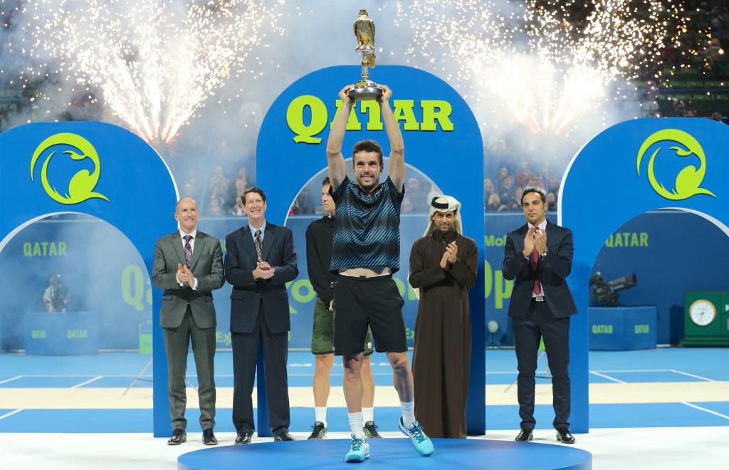 Roberto Bautista Agut é campeão do Qatar ExxonMobil Open 2019  /Foto: Samer Rejjal - QTF