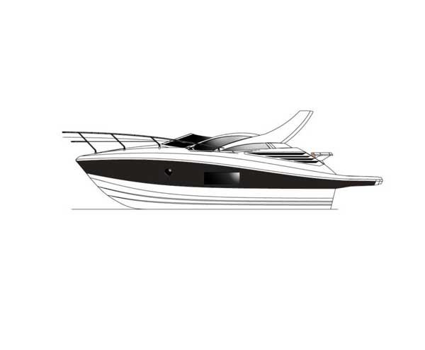 Modelo de entrada com design superesportivo pertence à linha premium de embarcações Armatti Yachts e é indicado para quem está começando a se aventurar pelas águas./Divulgação