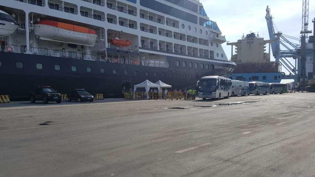 todo o sistema de fiscalização e vigilância portuária contará com o apoio logístico da Guarda Portuária e Policia Federal.