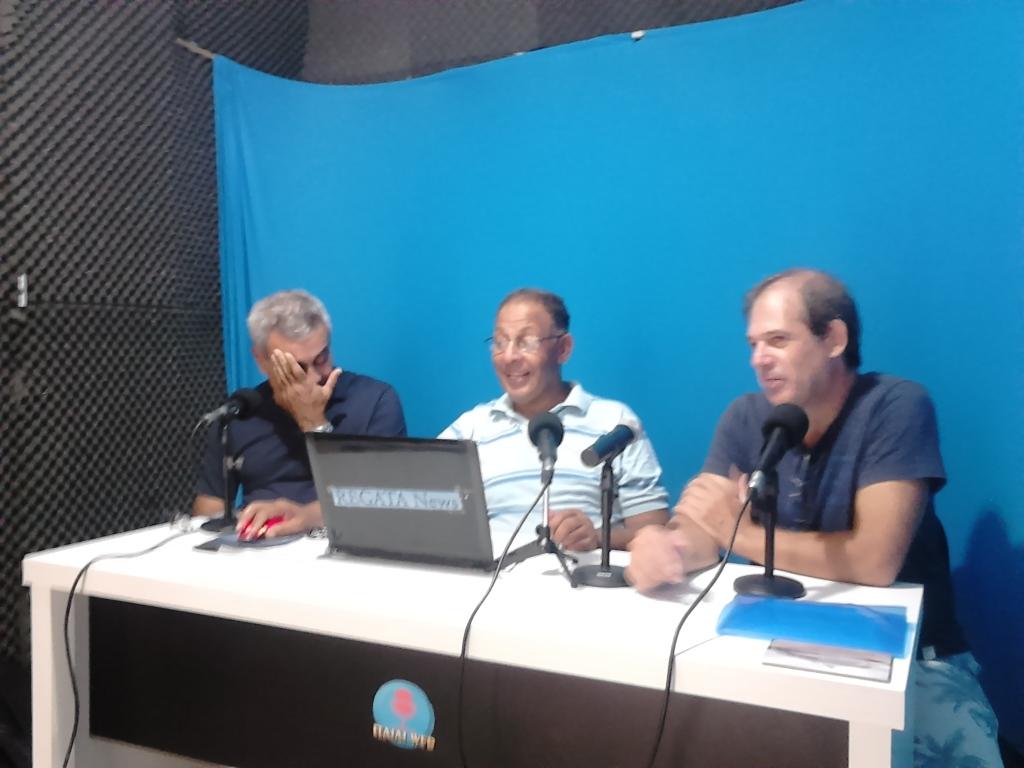 Velejador Claudio Copello e Edilberto Almeida  do Vela Show no Programa Adilson Pacheco