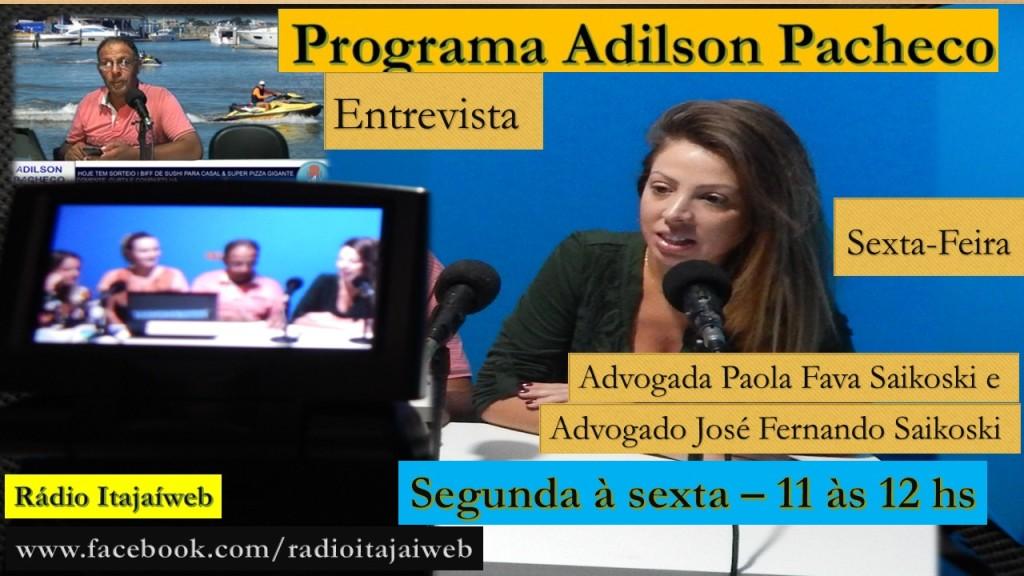 A Advogada  Paola Fava Saikoski  é um dos entrevistados nesta sexta-feira